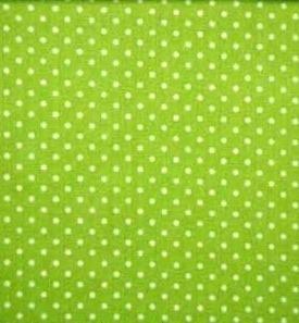 Ledikantdeken LimeGroen Stipje