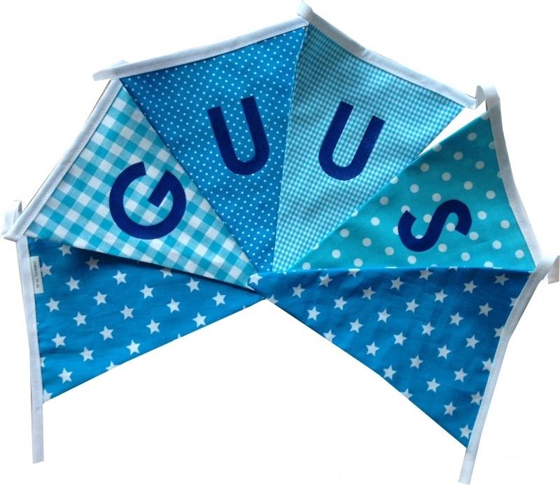 Vlaggetjes met naam: ontwerp Guus