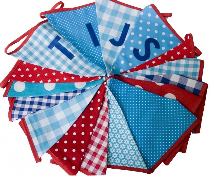 Vlaggetjes met naam: ontwerp Tijs