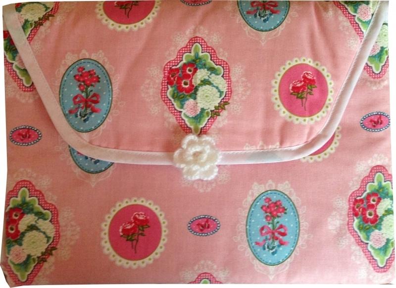Verschoonmatje Ornamentjes roze