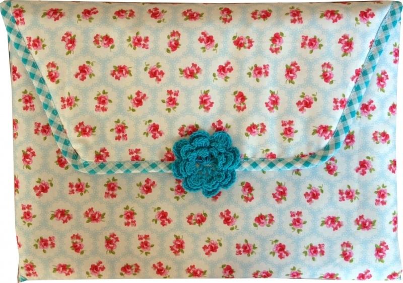 Verschoonmatje Blauwe bloemetjes
