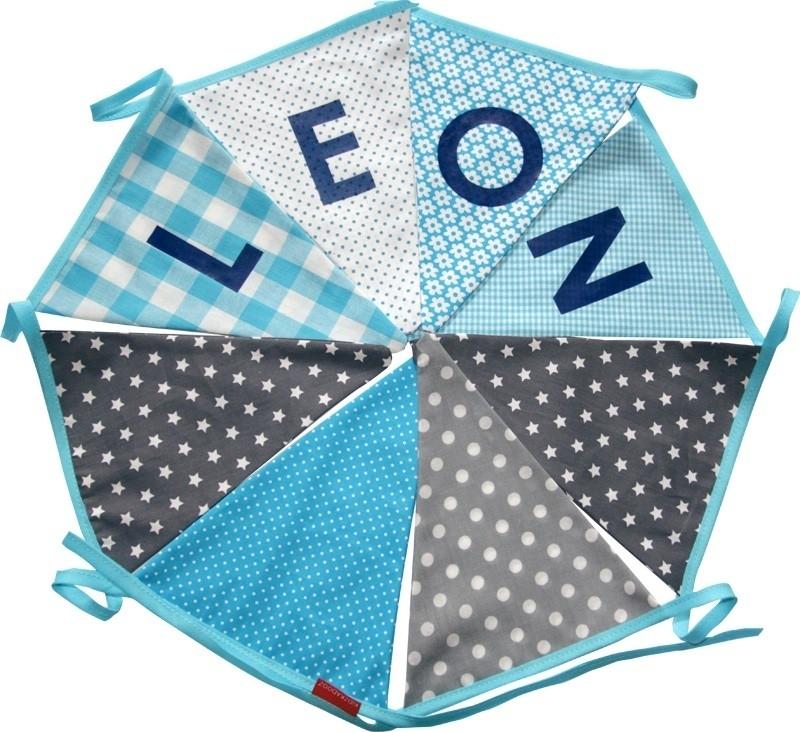 Vlaggetjes met naam: ontwerp Leon