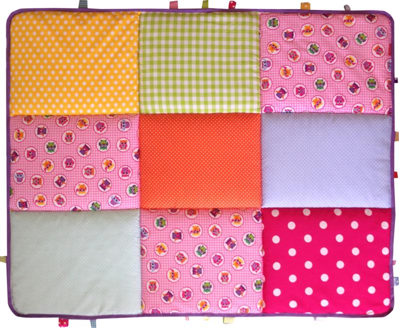 Boxkleed / Speelkleed: Roze Uiltjes Mix