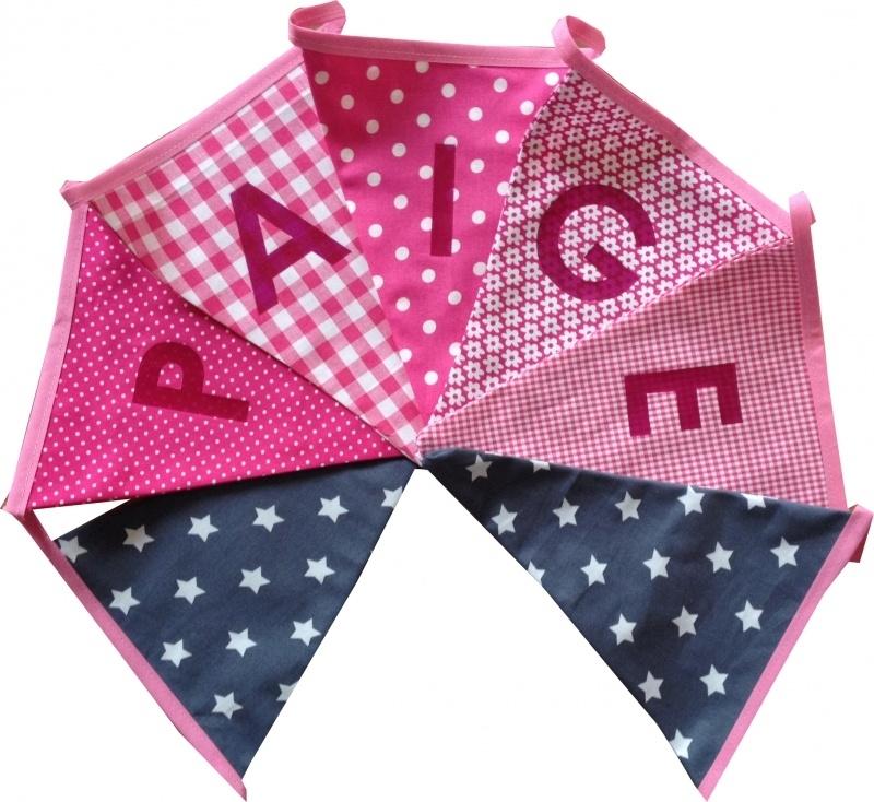 Vlaggetjes met naam: ontwerp Paige
