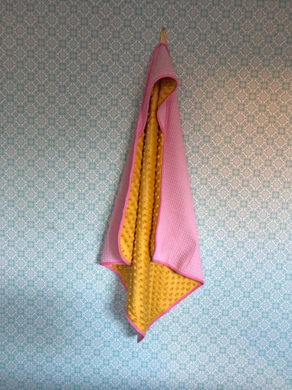 Wikkeldoek Roze met geel