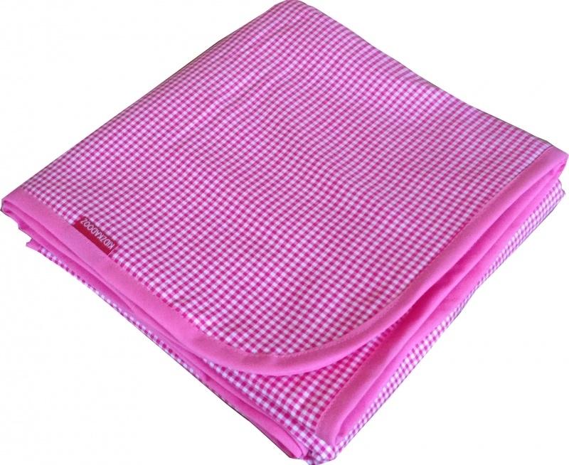 Ledikantdeken Roze Ruitje