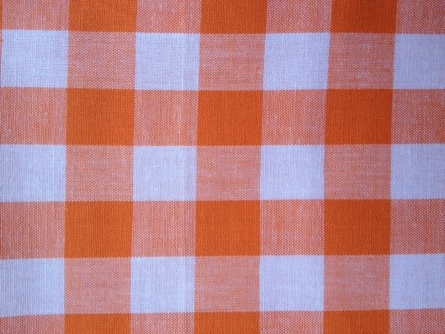 Tafelkleed Oranje Ruitjes 2cm