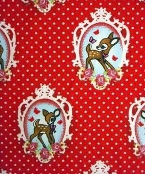 Tafelkleed Hertjes rood