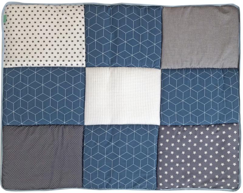 Boxkleed / Speelkleed: Geobloem Jeans blauw