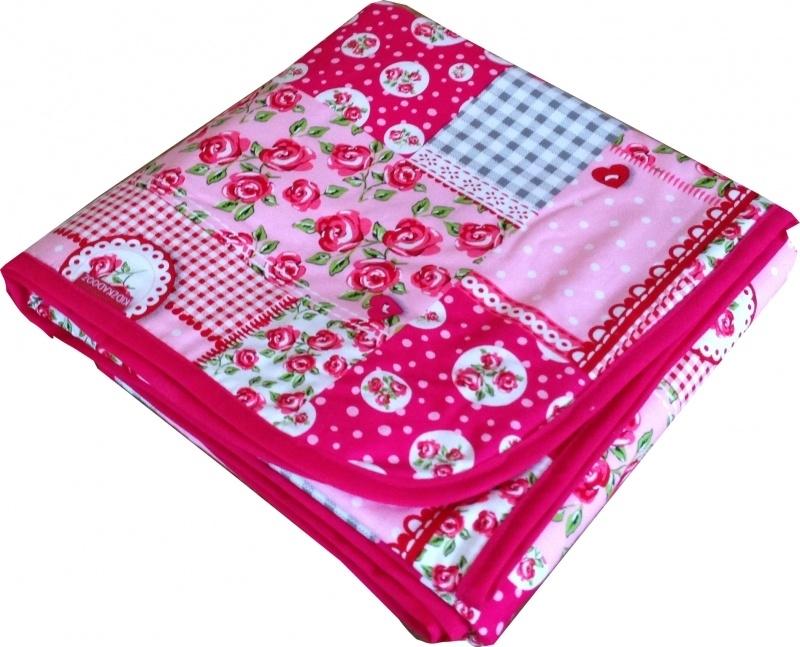 Wiegdeken Patch Roze Roosjes