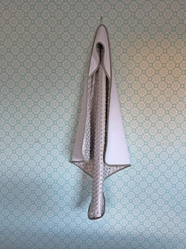 Wikkeldoek Wit met grijs