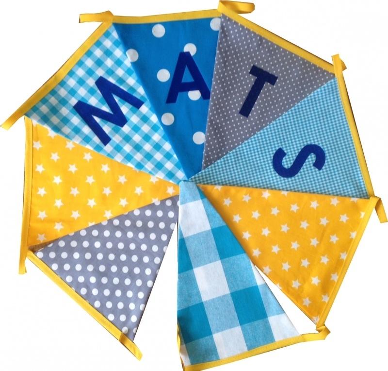 Vlaggetjes met naam: ontwerp Mats