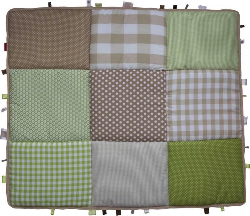 Boxkleed / Speelkleed: Beige met groen