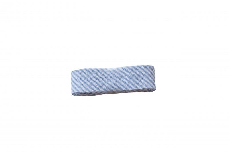 Biaisband Blauw streepje