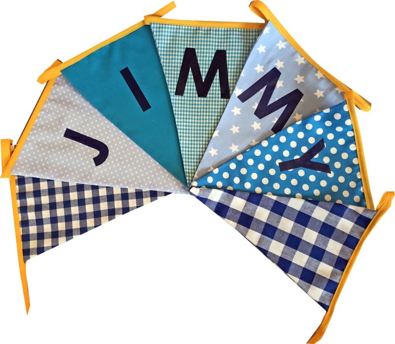 Vlaggetjes met naam: ontwerp Jimmy