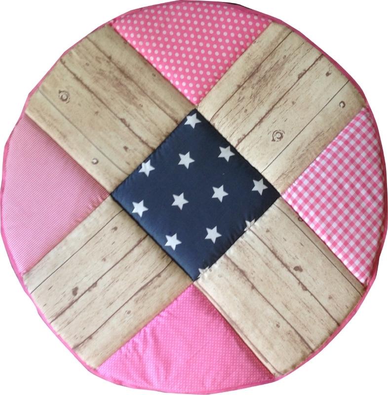 Boxkleed / Speelkleed: Steigerhout Roze