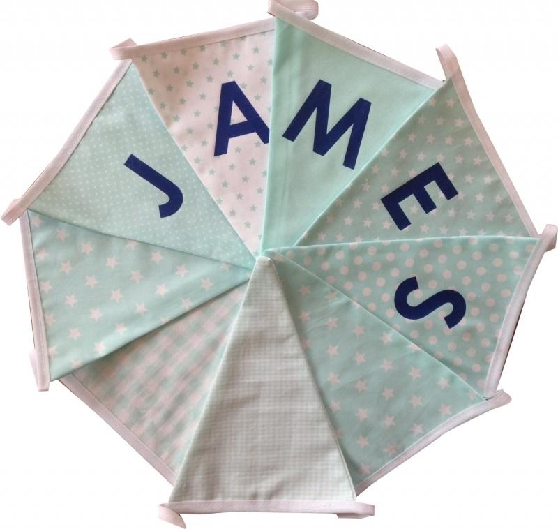 Vlaggetjes met naam: ontwerp James