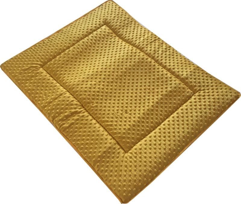 Boxkleed/ Speelkleed: Minky geel 75 x 95 cm