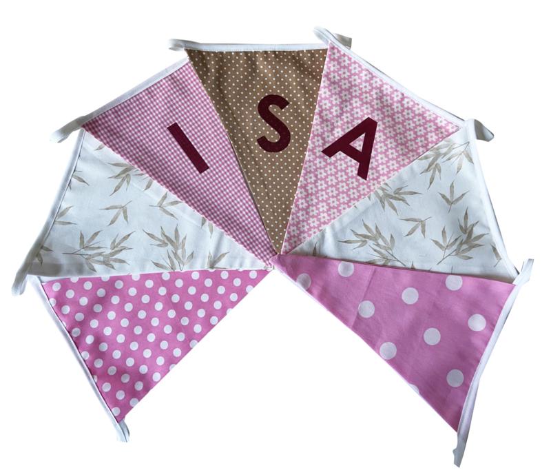 Vlaggetjes met naam: ontwerp Isa Bamboe beige