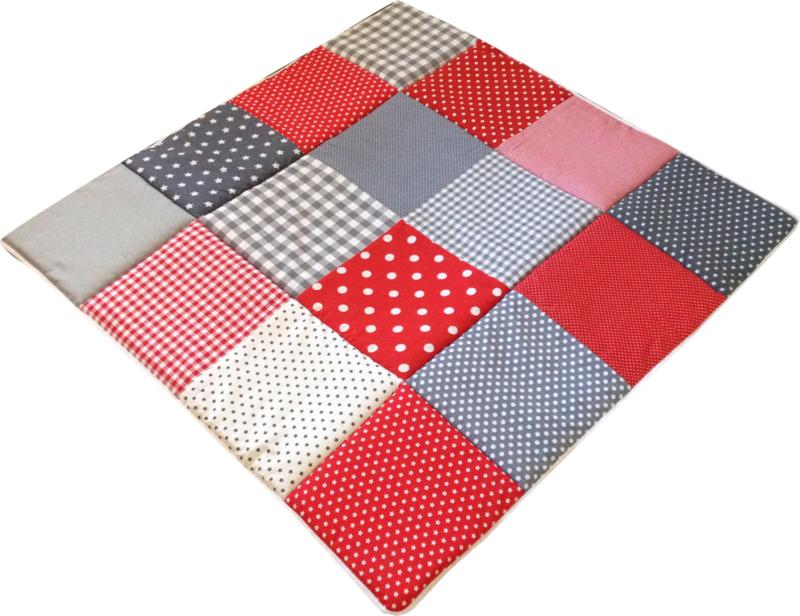 Speelkleed Rood met grijs