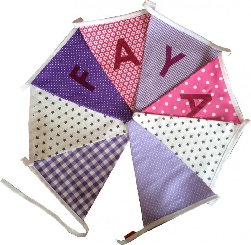 Vlaggetjes met naam: ontwerp Faya