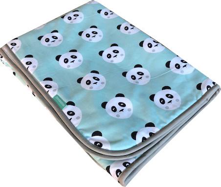 Wiegdeken Panda Mintgroen