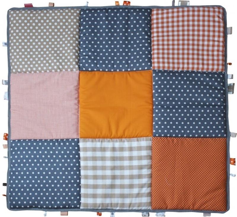 Boxkleed / Speelkleed: Oranje Grijs Beige