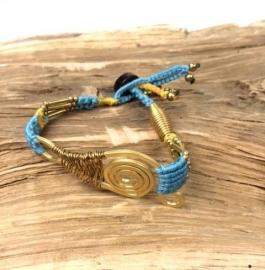 Ibiza orignals armband lichtblauw