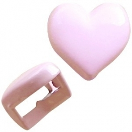 Chill schuiver Hart pastel roze