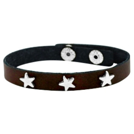 Silver stars dark chocolate brown