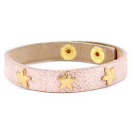 Golden stars metallic light vintage rose