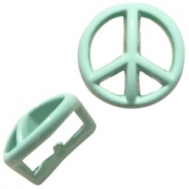 Chill schuiver Peace pastel turquoise green