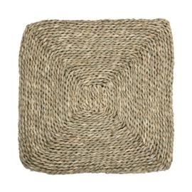 Zeegras zitkussen, vierkant, 40 x 40 cm