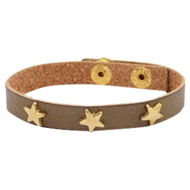 Golden stars olive brown