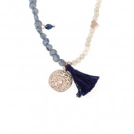 Biba armband of ketting blauw en grijs