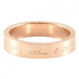 "Quote ring ""Enjoy the little things"" Maat: 16"