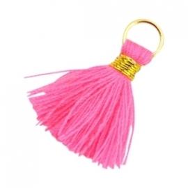 Ibiza kwastje goud-neon roze