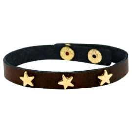 Golden stars dark chocolate brown
