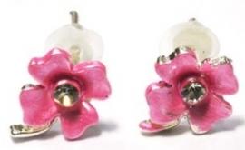 Bloemenoorbelletjes roze