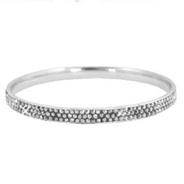 RVS armband met strass steentjes