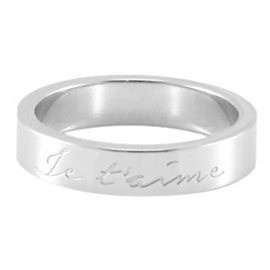 "Quote ring ""Je t'aime"" Maat: 17"