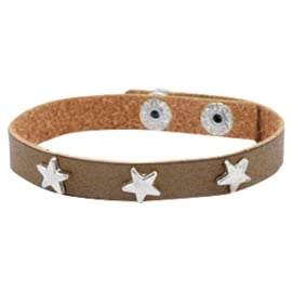 Silver stars olive brown