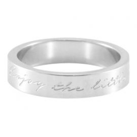 "Quote ring ""Enjoy the little things"" Maat: 17"