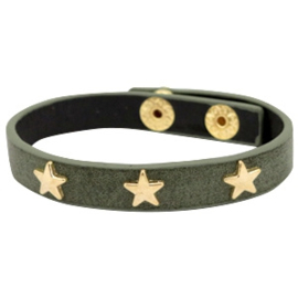Golden stars dark olive green