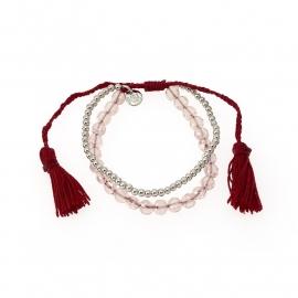Biba armband rood en roze
