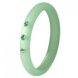 Polaris ring crysolite green 3 mm