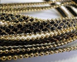 Zwart met gouden ketting (BallChain)