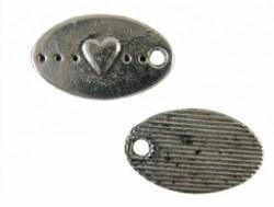 Ovale metalen hart
