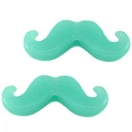 Moustache licht turquoise (10 stuks)