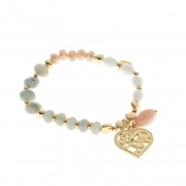 Biba armband met goud hart